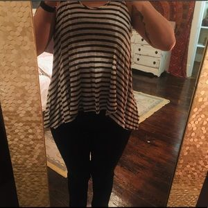 Free People Black and white stripped tank in Small